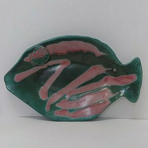 MCM Rare RRP glazed pottery fish plaque